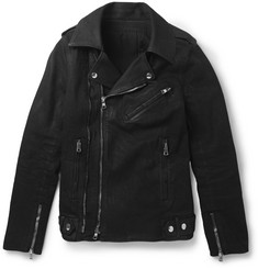 Balmain Waxed-Cotton Biker Jacket