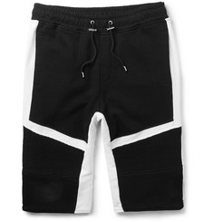Balmain Panelled Cotton-Jersey Shorts