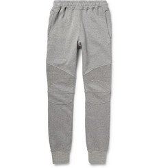 Balmain Slim-Fit Loopback Cotton-Jersey Biker Sweatpants