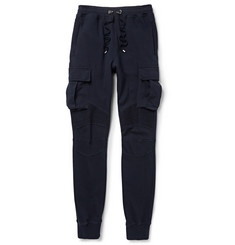 Balmain Cotton-Jersey Cargo Sweatpants