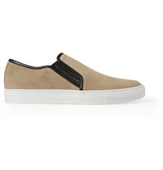 Balmain Suede Slip-On Sneakers