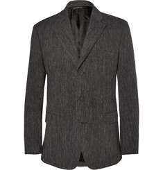 Issey Miyake Grey Woven Wool and Linen-Blend Suit Jacket