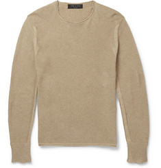 Rag & bone Griffin Waffle-Knit Cotton Sweater