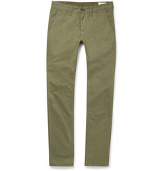 Rag & bone Slim-Fit Brushed Cotton-Twill Chinos