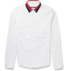 Gucci Contrast-Collar Cotton-Poplin Shirt