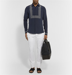Gucci Tapered Stretch-Cotton Trousers