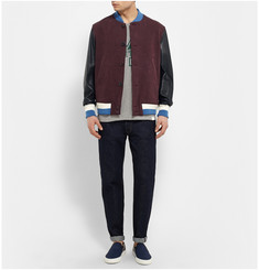 Undercover Leather-Trimmed Bomber Jacket