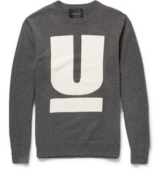 Undercover Intarsia Cotton and Cashmere-Blend Sweater