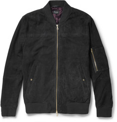 PS by Paul Smith Perforated Suede Bomber Jacket
