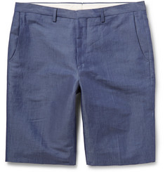 PS by Paul Smith Linen and Cotton-Blend Chambray Shorts