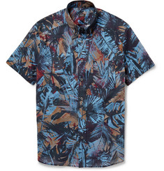 PS by Paul Smith Button-Down Collar Printed Cotton-Poplin Shirt