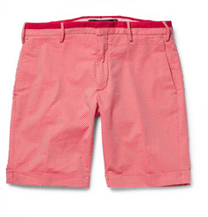 Incotex Slim-Fit Yarn-Dyed Cotton-Jacquard Shorts