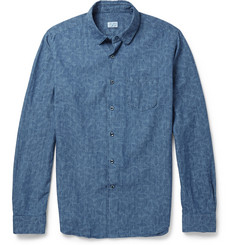 Incotex Printed Cotton-Chambray Shirt