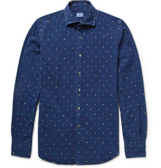 Incotex Slim-Fit Embroidered Cotton Shirt
