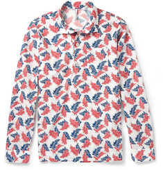 Incotex Leaf-Print Cotton Shirt