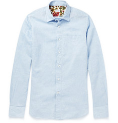 Incotex Slim-Fit Linen and Cotton-Blend Shirt