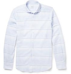 Incotex Slim-Fit Cotton and Linen-Blend Shirt