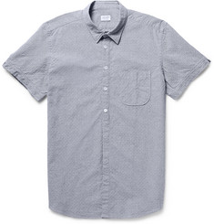 Incotex Slim-Fit Embroidered Puppytooth Cotton Shirt