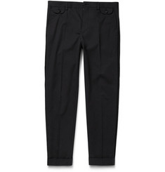 Dolce & Gabbana Slim-Fit Brocade-Trimmed Cotton Trousers