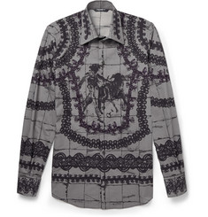 Dolce & Gabbana Slim-Fit Brocade-Print Cotton Shirt