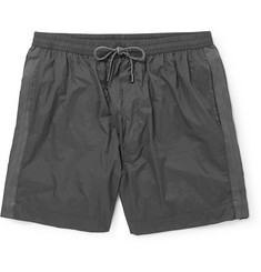 Dolce & Gabbana Mid-Length Webbing-Trimmed Swim Shorts