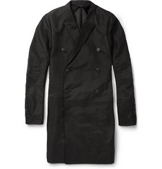 Rick Owens Stretch-Cotton and Silk-Blend Overcoat