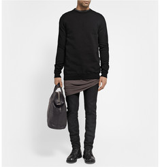 Rick Owens Crew Neck Cotton Sweatshirt