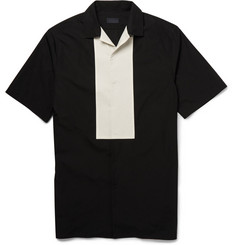 Lanvin Panelled Cotton Bowling Shirt