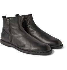 Ann Demeulemeester Double-Zip Leather Ankle Boots