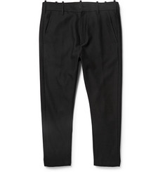 Ann Demeulemeester Slim-Fit Cropped Hemp and Wool-Blend Trousers