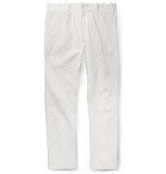 Ann Demeulemeester Slim-Fit Slubbed Woven Trousers