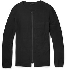 Ann Demeulemeester Zipped Cotton-Jersey Cardigan