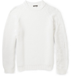 Ann Demeulemeester Contrast Chunky-Knit Sweater