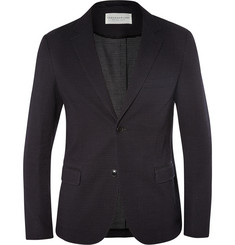 Tomorrowland Blue Micro-Dot Cotton-Blend Blazer