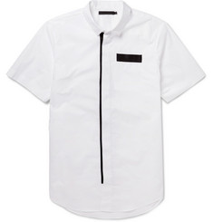 Alexander Wang Webbing-Trimmed Cotton Short-Sleeved Shirt