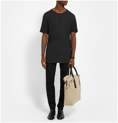 Alexander Wang T by Wang Crew Neck Slubbed Jersey T-Shirt