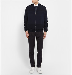 J.W.Anderson Striped Crepe Bomber Jacket