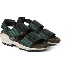 Lanvin Printed Satin and Rubber Sports Sandals