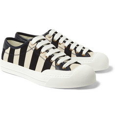 Gucci Striped Canvas Sneakers