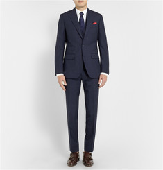 Thom Sweeney Navy Weighhouse Wool Three-Piece Suit