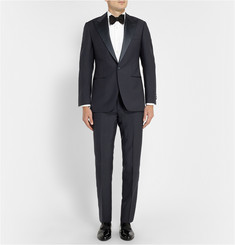 Thom Sweeney Navy Berkeley Three-Piece Wool Tuxedo