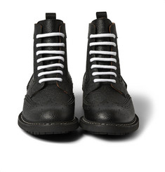 Givenchy Pebbled-Leather Boots