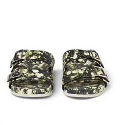 Givenchy Floral-Print Leather Sandals