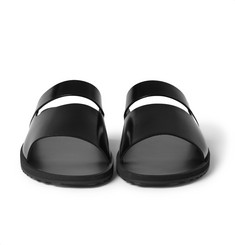 Givenchy Leather and Rubber Slides