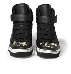 Givenchy Tyson Floral-Print Leather High Top Sneakers