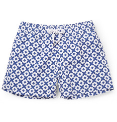 Frescobol Carioca Paraty Long-Length Printed Swim Shorts