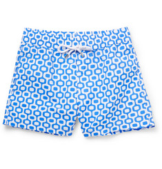 Frescobol Carioca Ipanema Mid-Length Printed Swim Shorts