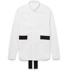 Givenchy Band-Trimmed Cotton Shirt
