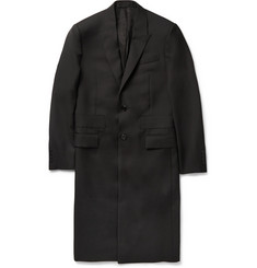 Givenchy Band-Trimmed Wool Overcoat