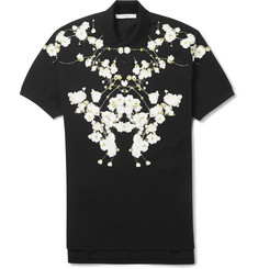 Givenchy Floral-Print Cotton-Piqué Polo Shirt